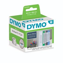 LabelWriter-Ordner-Etiketten schmal 38x190mm weiß Dymo S0722470 (PACK=110 ETIKETTEN) Produktbild