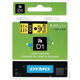 Schriftband D1 6mm/7m schwarz auf gelb Dymo S0720790 (ST=7 METER) Produktbild