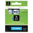 Schriftband D1 12mm/7m blau auf transparent Dymo S0720510 (ST=7 METER) Produktbild