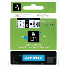 Schriftband D1 12mm/7m schwarz auf weiß Dymo S0720530 (ST=7 METER) Produktbild