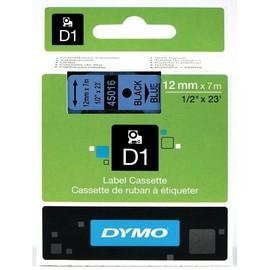 Schriftband D1 12mm/7m schwarz auf blau Dymo S0720560 (ST=7 METER) Produktbild