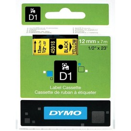 Schriftband D1 12mm/7m schwarz auf gelb Dymo S0720580 (ST=7 METER) Produktbild
