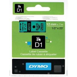Schriftband D1 12mm/7m schwarz auf grün Dymo S0720590 (ST=7 METER) Produktbild