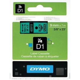 Schriftband D1 9mm/7m schwarz auf grün Dymo S0720740 (ST=7 METER) Produktbild