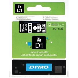 Schriftband D1 12mm/7m weiß auf schwarz Dymo S0720610 (ST=7 METER) Produktbild