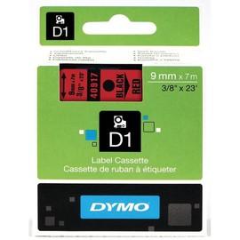 Schriftband D1 9mm/7m schwarz auf rot Dymo S0720720 (ST=7 METER) Produktbild