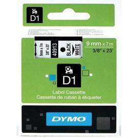 Schriftband D1 9mm/7m schwarz auf weiß Dymo S0720680 (ST=7 METER) Produktbild