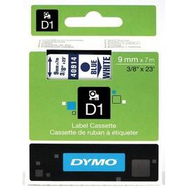Schriftband D1 9mm/7m blau auf weiß Dymo S0720690 (ST=7 METER) Produktbild