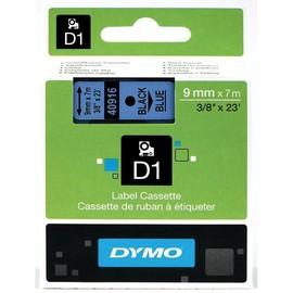 Schriftband D1 9mm/7m schwarz auf blau Dymo S0720710 (ST=7 METER) Produktbild