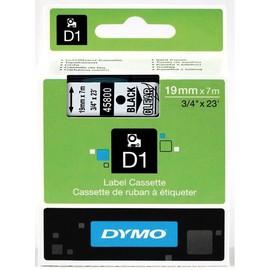 Schriftband D1 19mm/7m schwarz auf transparent Dymo S0720820 (ST=7 METER) Produktbild