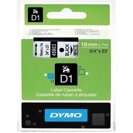 Schriftband D1 19mm/7m schwarz auf weiß Dymo S0720830 (ST=7 METER) Produktbild