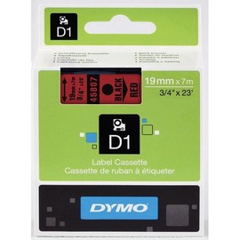 Schriftband D1 19mm/7m schwarz auf rot Dymo S0720870 (ST=7 METER) Produktbild