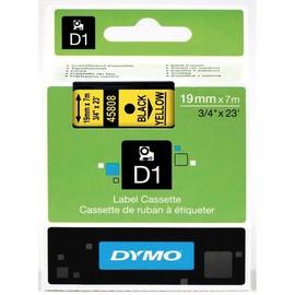 Schriftband D1 19mm/7m schwarz auf gelb Dymo S0720880 (ST=7 METER) Produktbild