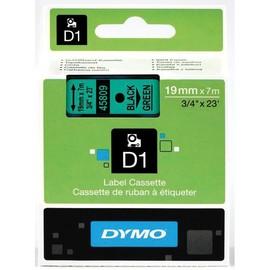 Schriftband D1 19mm/7m schwarz auf grün Dymo S0720890 (ST=7 METER) Produktbild