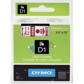 Schriftband D1 19mm/7m rot auf weiß Dymo S0720850 (ST=7 METER) Produktbild