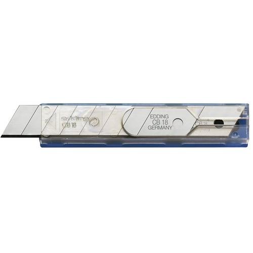 Ersatzklinge für Schneidemesser für Edding M18,ML18 18mm Edding CB18 (PACK=10 STÜCK) Produktbild Front View L