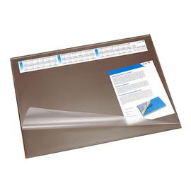 Schreibunterlage Synthos mit Vollsichtplatte und wechselbarem Kalender 52x65cm braun Läufer 49642 Produktbild