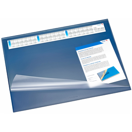 Schreibunterlage Synthos mit Vollsichtplatte und wechselbarem Kalender 52x65cm blau Läufer 49645 Produktbild