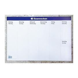 Schreibunterlage mit Wochentagedruck 40x59cm 20Blatt Papier Soennecken 3666 Produktbild