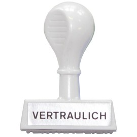 Textstempel -Vertraulich- 4,5cm Kunststoff Wedo 19326 Produktbild