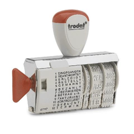 Wortbandstempel mit Datum mit 12Texten Schrifthöhe 4mm Trodat 1117 Produktbild