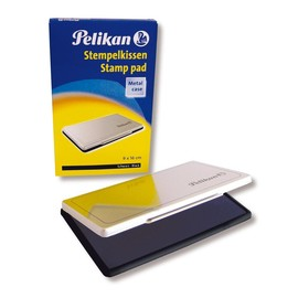 Stempelkissen 1 9x16cm schwarz Metall Pelikan 331108 Produktbild