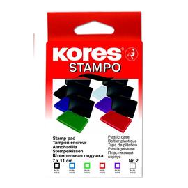 Stempelkissen Größe 2 7x11cm blau Kunststoff BestStandard SF71570 Produktbild