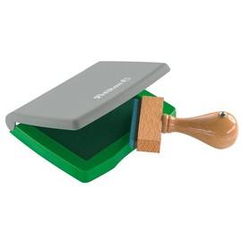Stempelkissen 3E 5x7cm grün Kunststoff Pelikan 337717 Produktbild