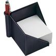 Zettelkasten Linear 127x127x117mm schwarz Kunststoff Helit H6304095 Produktbild Additional View 1 S