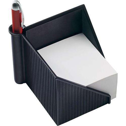 Zettelkasten Linear 127x127x117mm schwarz Kunststoff Helit H6304095 Produktbild Additional View 1 L
