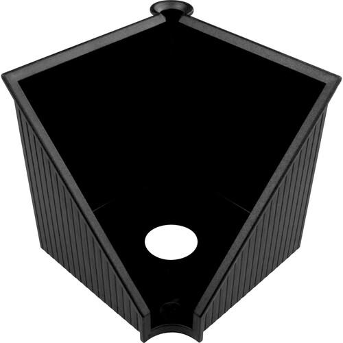 Zettelkasten Linear 127x127x117mm schwarz Kunststoff Helit H6304095 Produktbild