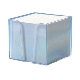 Zettelbox mit weißem Papier 105x105x90mm 700Blatt glasklar Kunststoff Metzger&Mendle 68910340 Produktbild