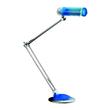 Schreibtischleuchte Dulux EL mit Doppelarm silber/blau ALCO 988-15 Produktbild