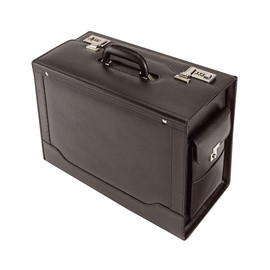 Pilotenkoffer ANCONA 45x36x21cm schwarz Leder Alassio 45042 Produktbild