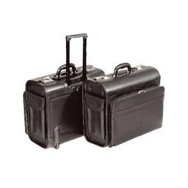 Pilotenkoffer mit Trolleysystem SAN REMO 45,5x40x26,5cm schwarz Lederimitat Alassio 45030 Produktbild