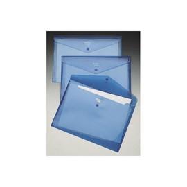 Aktentasche Carry Folder mit Druckknopf A4 bis 100Blatt blau transparent PP Rexel 16129BU (PACK=5 STÜCK) Produktbild