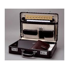 Attachekoffer TAORMINA 45x32,5x11cm schwarz Leder Alassio 41033 Produktbild