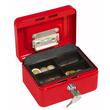 Geldkassette Gr. 1 mit Kunststoffeinsatz 152x115x80mm rot Stahl Wedo 145102H Produktbild Additional View 1 S