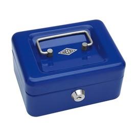 Geldkassette Gr.1 mit Kunststoffeinsatz 152x115x80mm blau Stahl Wedo 145103H Produktbild