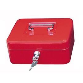 Geldkassette Gr. 2 mit Kunststoffeinsatz 200x160x90mm rot Stahl Wedo 145202H Produktbild