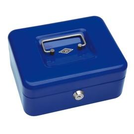 Geldkassette Gr. 2 mit Kunststoffeinsatz 200x160x90mm blau Stahl Wedo 145203H Produktbild