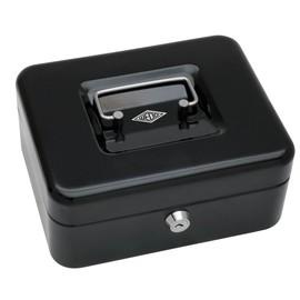 Geldkassette Gr. 2 mit Kunststoffeinsatz 200x160x90mm schwarz Stahl Wedo 145221H Produktbild