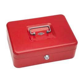 Geldkassette Gr. 3 mit Kunststoffeinsatz 250x180x90mm rot Wedo 145302H Produktbild