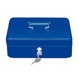 Geldkassette Gr. 3 mit Kunststoffeinsatz 250x180x90mm blau Stahl Wedo 145303H Produktbild