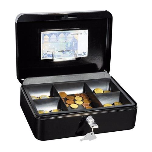Geldkassette Gr. 3 mit Kunststoffeinsatz 250x180x90mm schwarz Stahl Wedo 145321H Produktbild Additional View 1 L