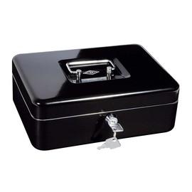 Geldkassette Gr. 3 mit Kunststoffeinsatz 250x180x90mm schwarz Stahl Wedo 145321H Produktbild