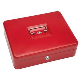 Geldkassette Gr. 4 mit Kunststoffeinsatz 300x240x90mm rot Stahl Wedo 145402H Produktbild