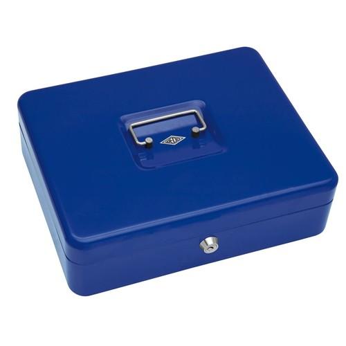Geldkassette Gr. 4 mit Kunststoffeinsatz 300x240x90mm blau Stahl Wedo 145403H Produktbild