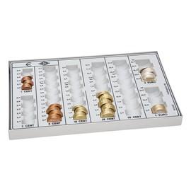 Zählbrett für 125,78¤ 268x165x30mm lichtgrau Metallboden und Metallrahmen Wedo 160758037 Produktbild