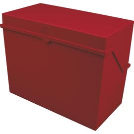 Kleinkartei A5 228x110x170mm für 500Karten rot Kunststoff Helit H6214525 Produktbild